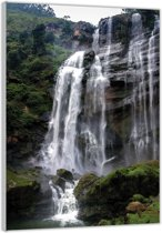 Plexiglas – Waterval– 60x90cm (Wanddecoratie op Plexiglas)