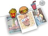 Mustard Funny Fotoclips - ClipIt Fast Food - Set van 6 Stuks - Assorti
