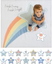 Lulujo Baby's First Year swaddle & cards - I wish I may