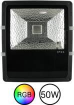 Dolphix - LED Bouwlamp RGB 50 Watt - Incl. Afstandsbediening en bevestigingsbeugel - Dimbaar