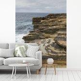 Fotobehang vinyl - De kust van het vasteland van Skara Brae in Schotland breedte 375 cm x hoogte 500 cm - Foto print op behang (in 7 formaten beschikbaar)