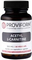 Proviform Acetyl L-Carnitine - 500 - 30 V-Capsules – Voedingssupplement