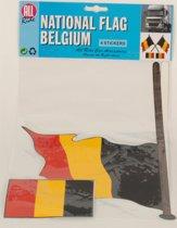 Stickerset van de Belgische vlag
