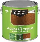 Cetabever vlonder & terrasbeits anti-slip teak - 2,5 liter