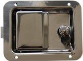 Gepolijst inbouwslot RVS - 140x108 mm - inclusief 2 sleutels