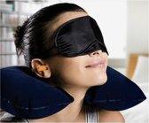 Nekkussen van Versteeg® Confortabel Opblaasbaar Nekkussen ideaal voor het lange reizen - geschikt voor Hoofd Nek - Rug - Benen - of kussen slapen tussen uw benen - Viegtuig - Auto - Boot - Zwart- Grijs