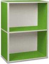 way Basics Rectangle plus2 - Boekenkast - groen