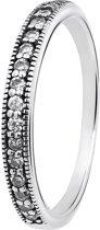 Lucardi - Zilveren ring Bali met kristal