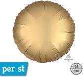 Folieballon Rond Goud Matte - 43 Centimeter
