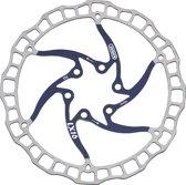 Elvedes Remschijf 160 Mm 6 Gaats Zilver/blauw Staal