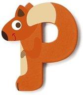 Scratch Letter P Eekhoorn Oranje 5.5 Cm