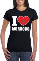 Zwart I love Marokko fan shirt dames XL