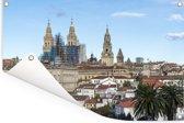 Kathedraal van Santiago de Compostella in Spanje Tuinposter 60x40 cm - klein - Tuindoek / Buitencanvas / Schilderijen voor buiten (tuin decoratie)