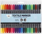 Textielstiftenset met 20 kleuren - textielstift