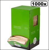 1000x Roerstaafjes hout 10mmx110mm