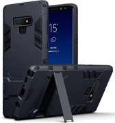 Qubits - Double Armor Layer hoes met stand - Samsung Galaxy Note 9 - zwart