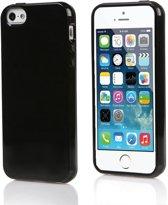 Xssive TPU Back Cover en 1x Tempered Glass voor Samsung Galaxy S7 G930 - Gelly - Zwart