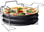 Pizzaplaat Met 3 Bakplaten