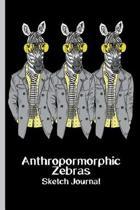 Anthropomorphic Zebras Sketch Journal