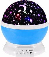 Sterrenhemel Verlichting Kinderkamer - Moon Light Projector - Nachtlampje kind | baby - Nachtlamp - Snoezellamp - Spacelamp - Cadeau kind + Bijbehorende oplaadkabel - Inclusief batterijen (blauw)