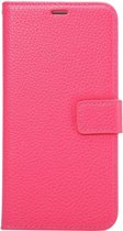 Mobigear Litchi Wallet Book Case Premium Magenta voor Samsung Galaxy S6 Edge