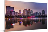 Zonsondergang in de Chinese stad Nanning Aluminium 30x20 cm - klein - Foto print op Aluminium (metaal wanddecoratie)