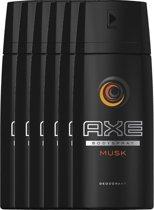 Axe Black Body Spray - 150 ml - deodorant - 6 st - Voordeelverpakking