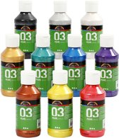 A-color acrylverf - Assortiment, 03 - metallic, 10x120 ml