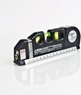 Waterpas multitool met ingebouwde laser, liniaal en rolmaat