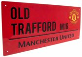 Manchester United Plaat - Sign - Rood