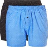 Ten Cate Heren 2Pack Wijde Boxershorts Zwart/Blauw-S (4)