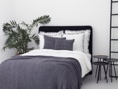 Flamant Home Linen Knitted Glitter Antra - Plaid - 240 x 260 cm - Antraciet Grijs