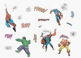 Marvel - Muurstickers - Superhelden - Meerkleurig - 17 x 34 cm