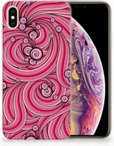 iPhone Xs Max  TPU-siliconen Hoesje Swirl Pink