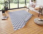 Binnen & Buiten Vloerkleed Tahiti 103765 80x150 cm Crème & Blauw