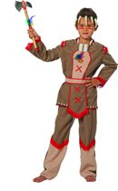 Carnavalskleding Indiaan Hiawatta jongen Maat 152