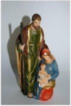 Kerstvoorstelling Maria met Jozef en Jezus.