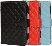 Designer Book Cover Case Hoes voor Sony Prs 600 met ruitmotief, blauw , merk i12Cover