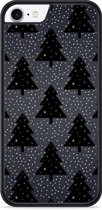 iPhone 8 Hardcase hoesje Snowy Christmas Trees