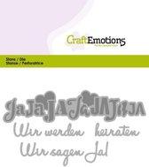 CraftEmotions Mal Tekst - Wir werden heiraten Duits  Card 11x9cm