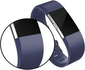 YONO Siliconen bandje - Fitbit Charge 2 - Donkerblauw - Small