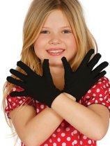 Korte zwarte handschoenen voor kinderen - Verkleedattribuut
