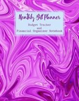 Monthly Bill Planner Budget Tracker and Financial Organizer Notebook