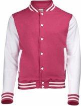 Roze met wit college jacket voor heren S