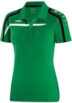 Jako Polo Performance - Sportpolo -  Dames - Maat 42 - 44 - Groen;Zwart;Wit