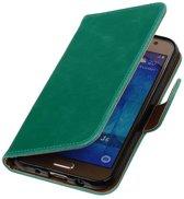 Zakelijke Bookstyle Hoesje voor Galaxy J5 (2016) Groen