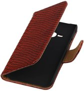Wicked Narwal | Snake bookstyle / book case/ wallet case Hoes voor Samsung galaxy j1 2015 Ace Rood
