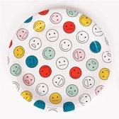 Papieren bordjes met vrolijke gezichtjes (happy faces)