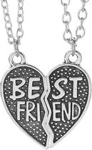 Fako Bijoux® - Vriendschapsketting - Harten - Best Friend