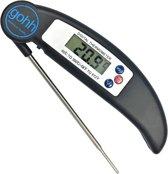 Digitale Kookthermometer (zwart) - Inklapbare Sonde -50°C tot 300°C
